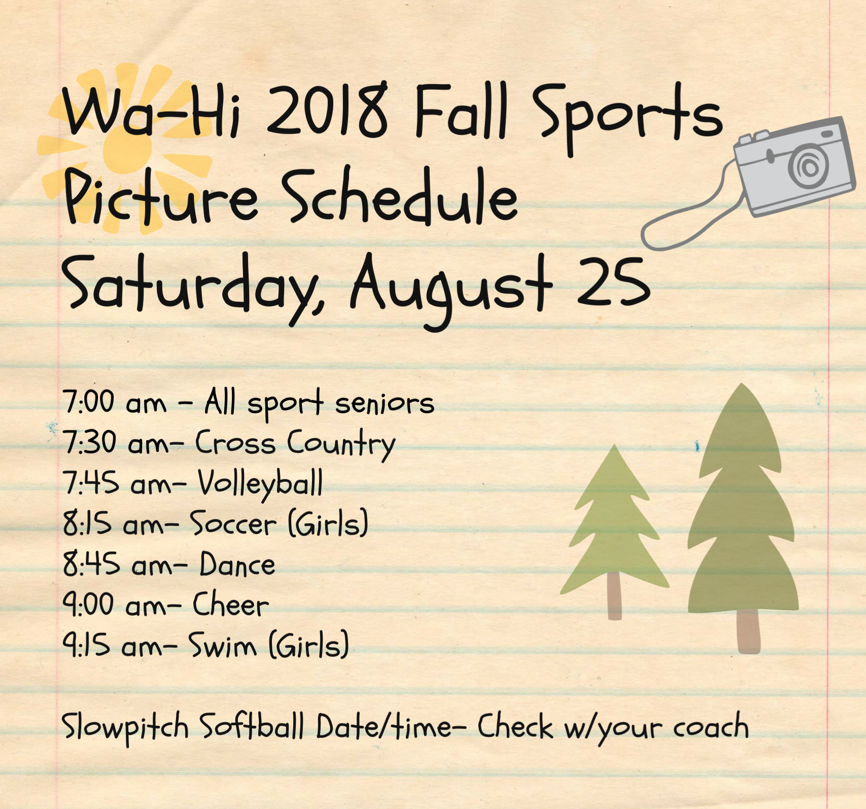 Fall 2018 Sports picture Schedule copy