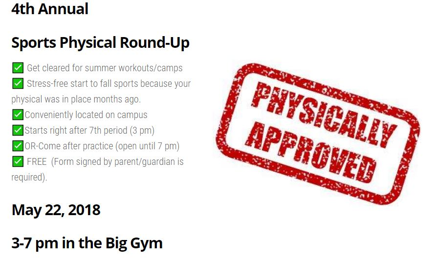 Sports Physical Round-up 2018